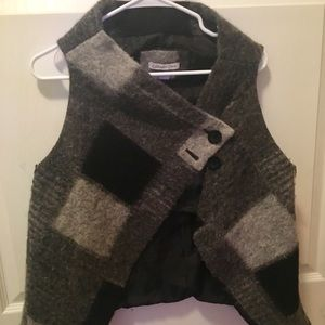 Cold water creek wool shawl/vest